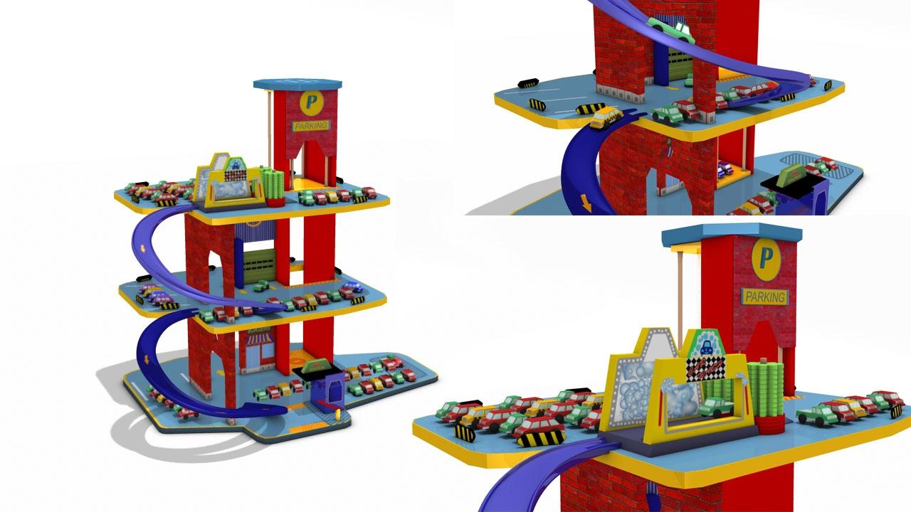 Parking Garage Play Set For Children Car Wash Playland Cars Kids Toys You