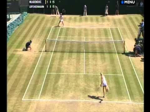 Noppawan Lertcheewakarn vs Kristina Mladenovic Wimbledon ...