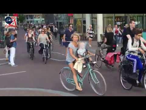 Vredenburg, Utrecht. Busiest cycle path in the Netherlands