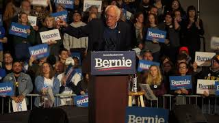 A Crowd of 2,000 Welcome Bernie Sanders and Friends in Coralville