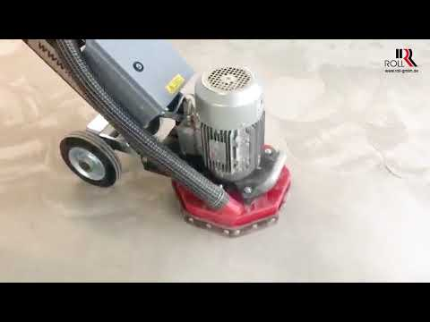 Betonboden Reinigen anschleifen vom flügelgeglätteten betonboden