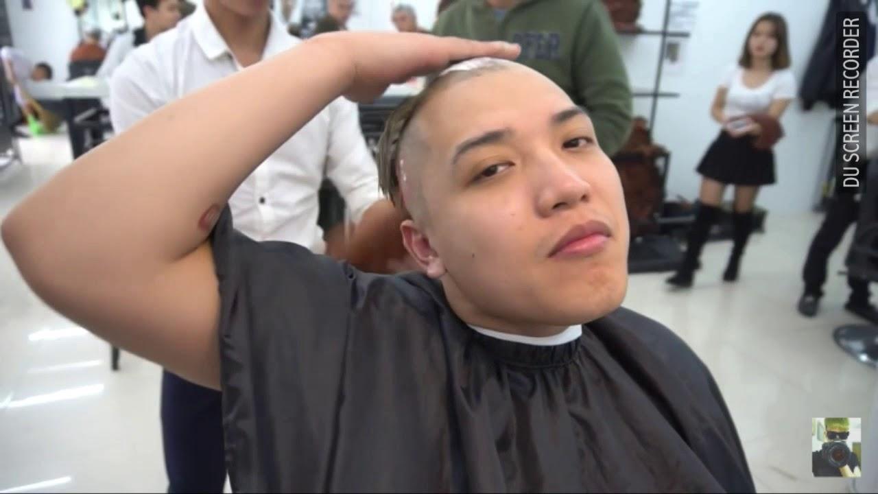 Clip Nguyễn Thành Nam cạo trọc đầu. Trắng tinh