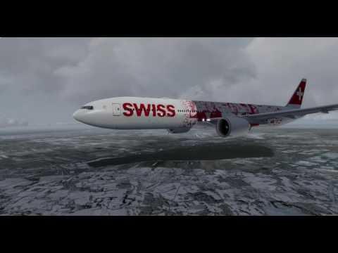 Prepar3D Swiss Air PMDG B773 Zurich - Amsterdam  Part 2 | Approach | Landing | Taxi and Parking