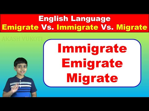 Differences between Immigrate, Emigrate and Migrate | English Vocabulary