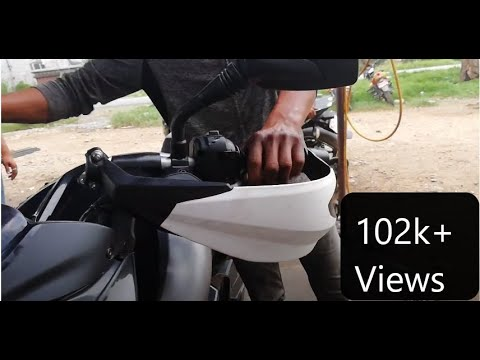 How to install KTM Duke hand cover in 200 NS pulsar