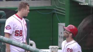 Papelbon Harper fight (2nd angle)