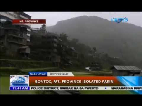 Bontoc, Mt  Province isolated pa rin