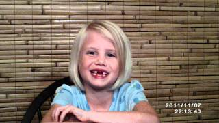 Little Vampire Girl Sings Along With Justin Bieber - Baby