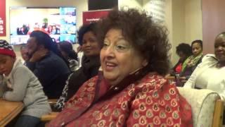 Deputy Chairperson Priscilla Jana welcomes CEO Tseliso Thipanyane