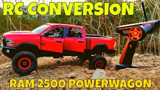 RC DODGE RAM 2500 PICKUP TRUCK made of WPL, BRUDER RC CONVERSION - RC ROCK CRAWLER - RC WITH POPEYE