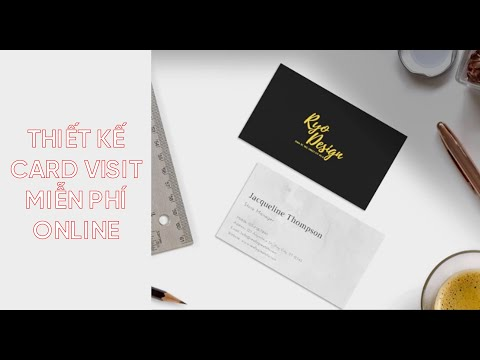 CANVA - Thiết kế CARD VISIT MIỄN PHÍ
