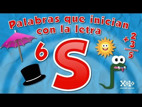 Words that start with the letter S in Spanish for children - Videos Aprende