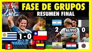 ANÁLISIS FASE DE GRUPOS - URUGUAY VS CHILE, ARGENTINA VS QATAR, ECUADOR, PARAGUAY