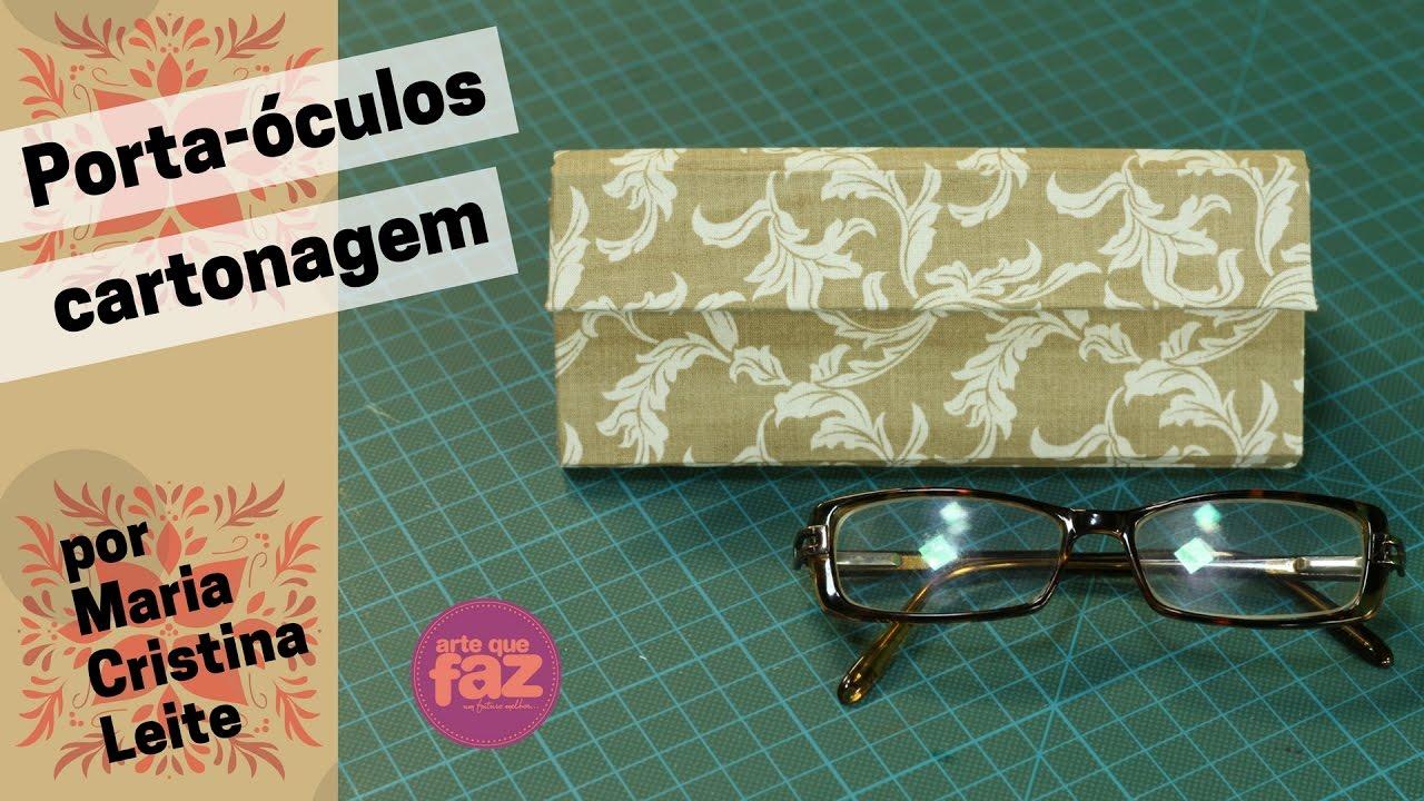 21326b623 Porta-óculos em cartonagem - YouTube