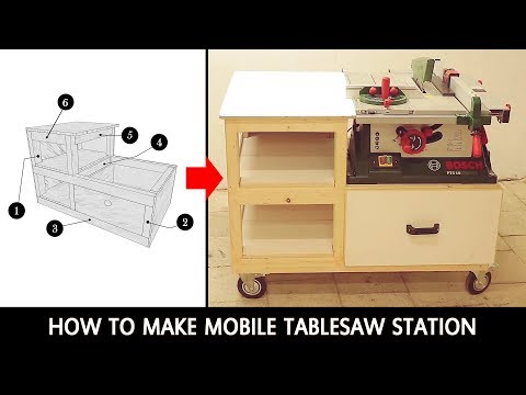 How to make mobile tablesaw station