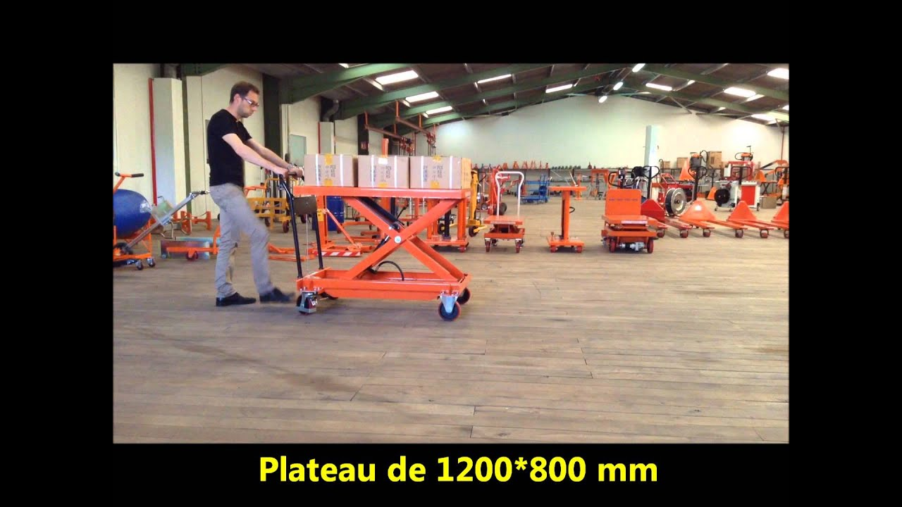 Table l vatrice mobile industrielle bs 100l palvac tel 02 41 27 33 22 youtube for Grande table industrielle