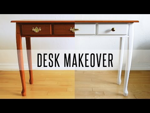 DIY DESK MAKEOVER - HOW TO PAINT FURNITURE