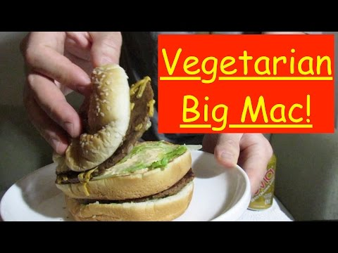 Mukbang - Big Wac, Vegetarian Big Mac!