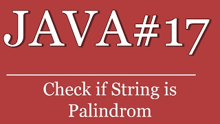 Java #17 tutorial - check if sentence or word is a palindrom|||||||||||||||||affiliate-links|||||||||||||||||amazon-link: http://amzn.to/1yr6oddmy books:c#: ...