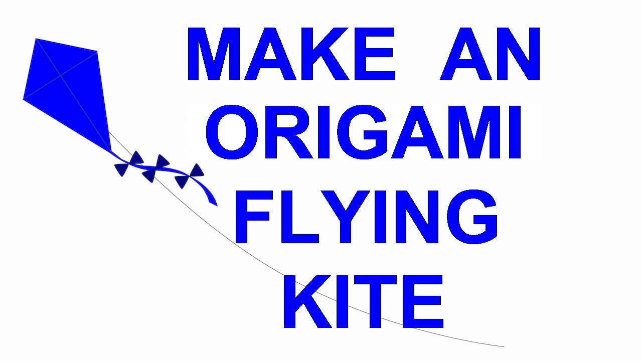 how to make a flying origami kite fun kids craft