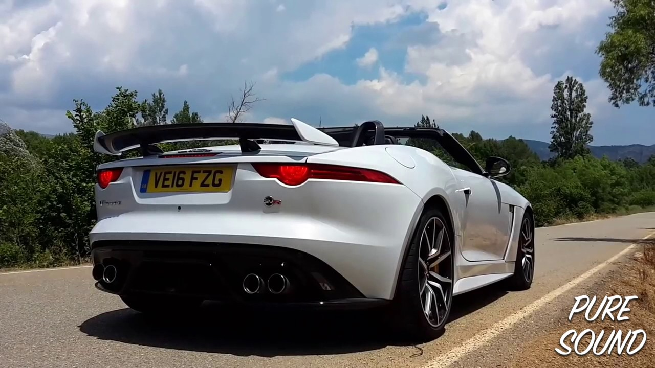 Puresound Insane Jaguar F Type Svr Exhaust Sound Compilation