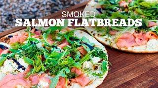 Smoked Salmon Flatbread in the GMG Pizza Oven Attachment