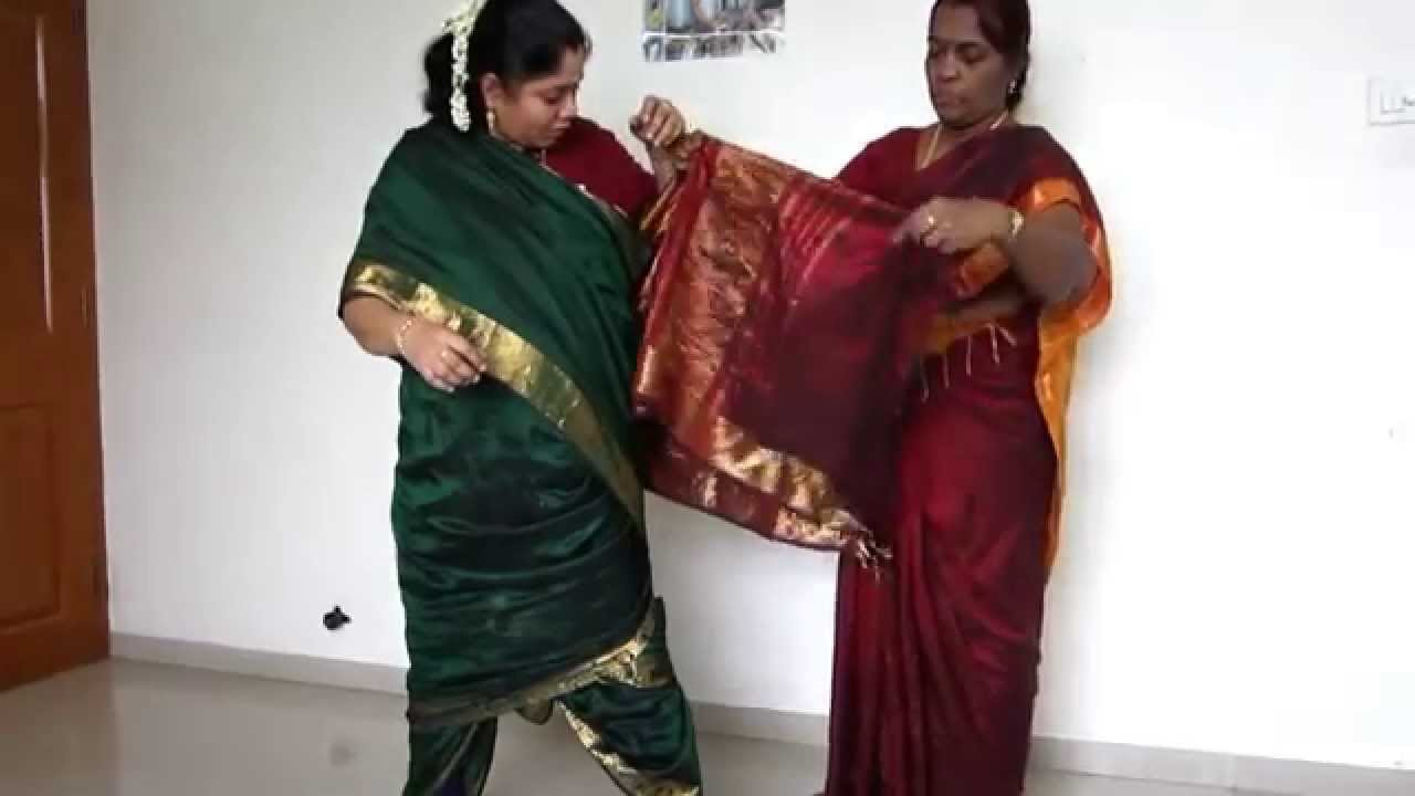 Madisar iyer saree how to wear photo