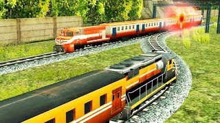 Indian Train Racing Games 3D - Multiplayer | Android / ios Gameplay  | Droidnation