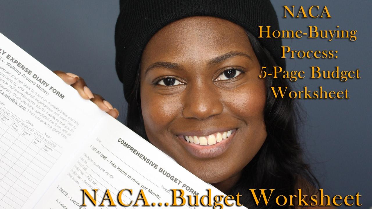 home budget sheet