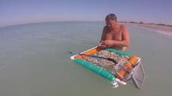 "Finding Shark's Teeth in Venice, Florida using a 22"" Shark Tooth Ocean Sifter"