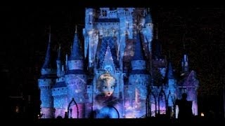 "Frozen segment in Celebrate the Magic castle show featuring ""Let It Go"" at Magic Kingdom"