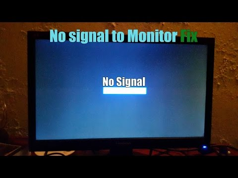 How To Fix Pc Monitor No Signal