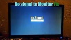 No signal to Monitor Fix Easy PC Fix