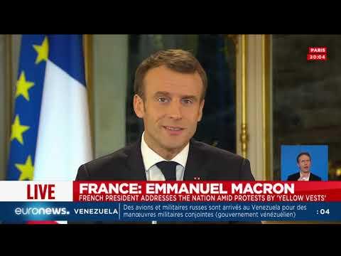 Gilets jaunes : le discours intégral d'Emmanuel Macron