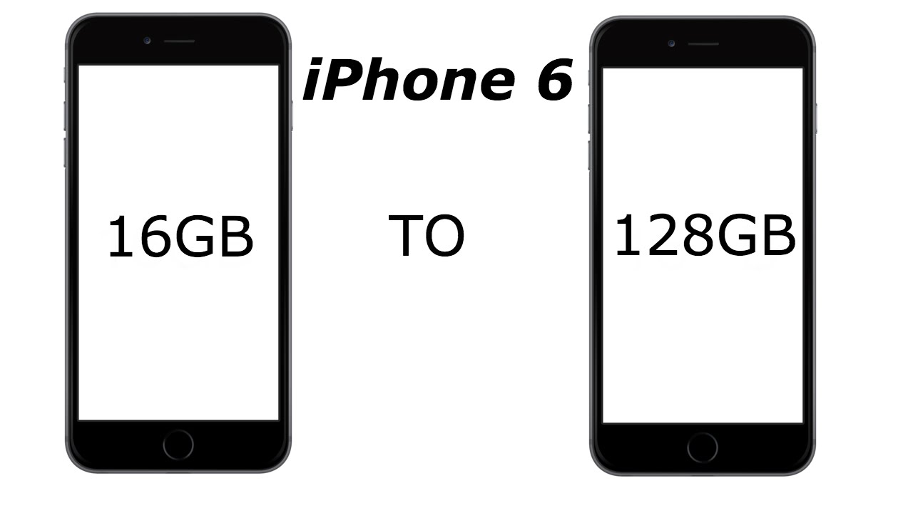 how to upgrade iphone storage iphone 6 storage upgrade to128gb 4k 17305