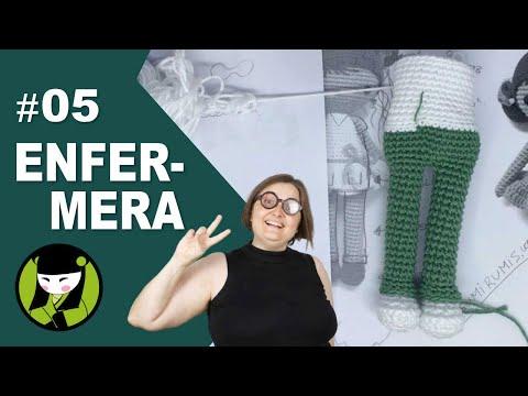 ENFERMERA AMIGURUMI 5 tejemos el cuerpo a crochet