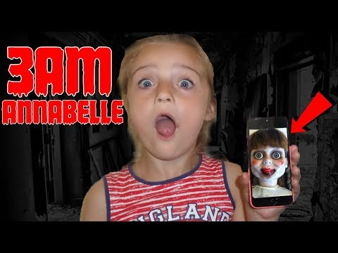 SCARY ANNABELLE DOLL CALLED ME ON FACETIME AT 3AM!! OMG SO CREEPY!!