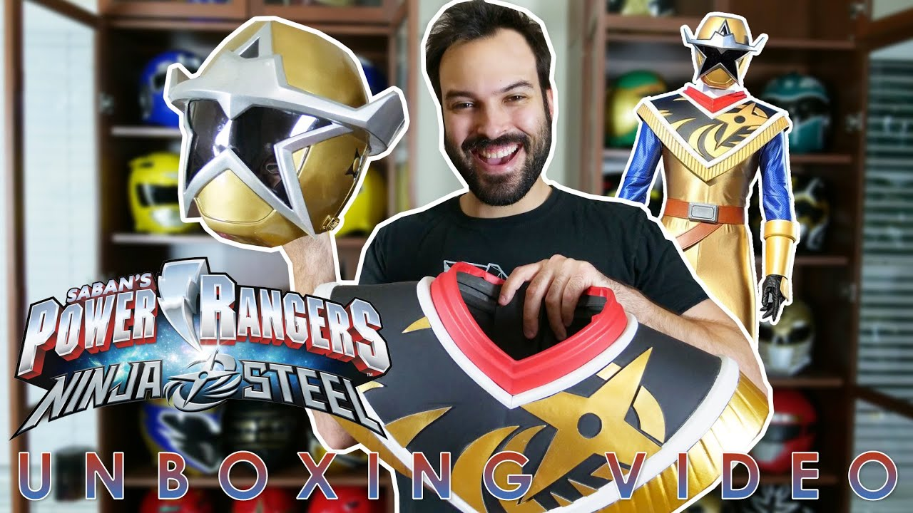Gold Ninja Steel Power Rangers Cosplay Amp Review Helmet X