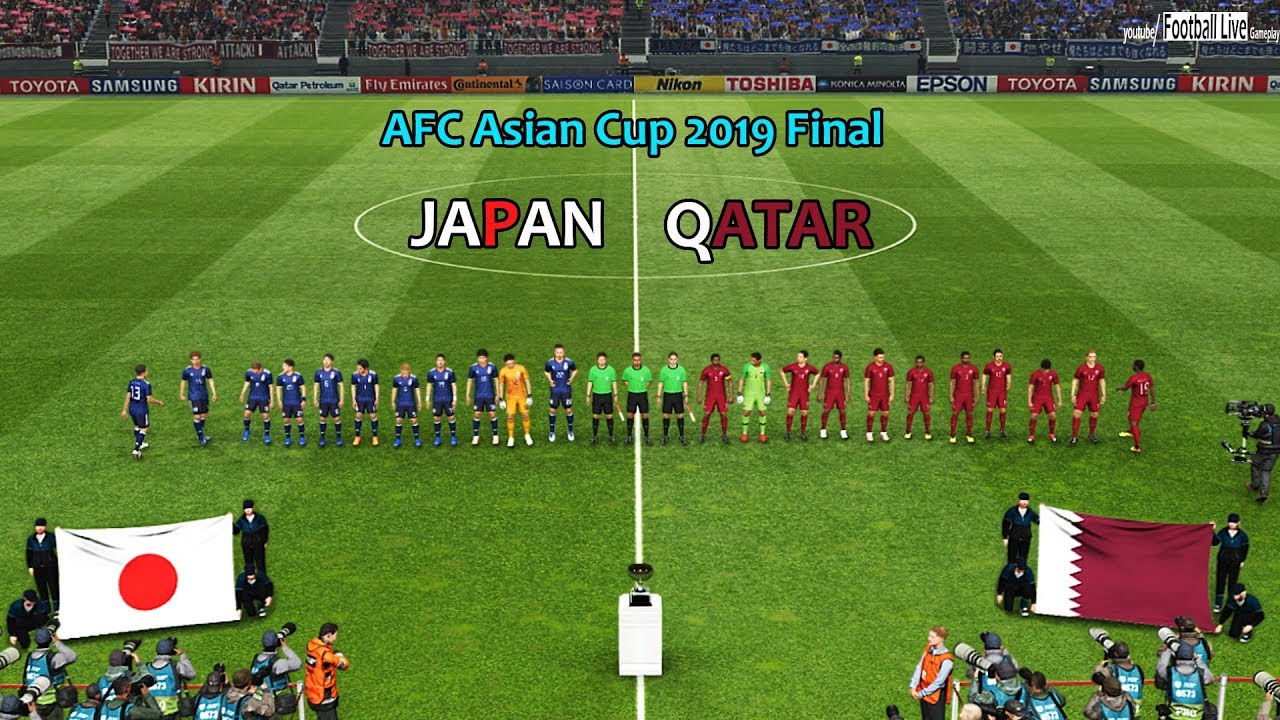 Download PES 2019 | JAPAN vs QATAR | AFC Asian Cup 2019 Final