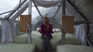 Lesley Murphy at the Sky Lodge Adventure Suites in Sacred Valley Peru