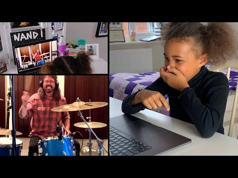 Challenge Accepted! Nandi Bushell reacts to Dave Grohl accepting her drum battle request!