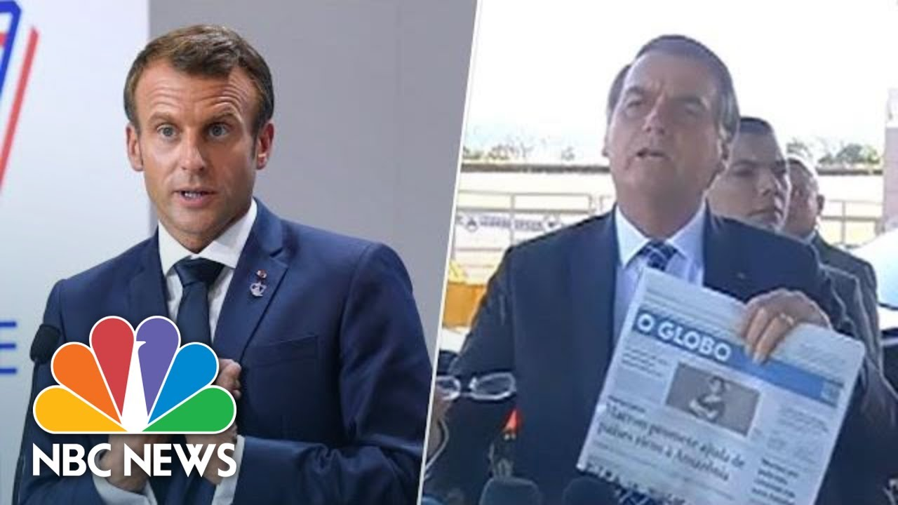 President Emmanuel Macron Claps Back At Bolsonaro For Joke About Wife Nbc News Youtube