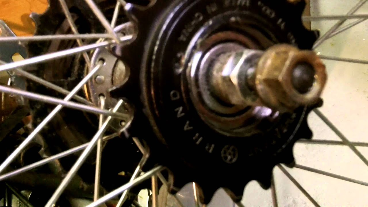 Gas electric bicycle p1 sprocket mod youtube for Freewheel sprocket for electric motor