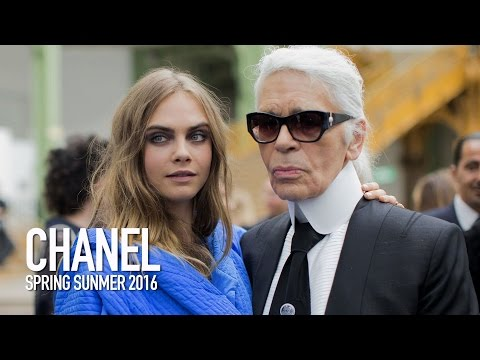 CHANEL Spring 2016 Fashion Show Backstage Ft Karl Lagerfeld, Cara Delevingne  | MODTV