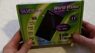 Распаковка эфирного DVB-T2 приёмника WORLD VISION T129