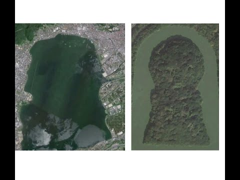 1809 Mystery of Suwa lake, Man made Lake諏訪湖の謎・それは人造湖だったbyはやし浩司Hiroshi Hayashi, Japan