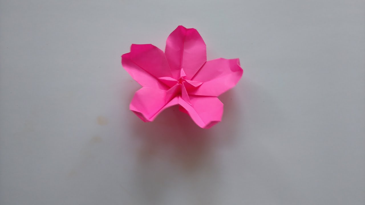 Origami Tutorial How To Fold Origami Cherry Blossom Youtube