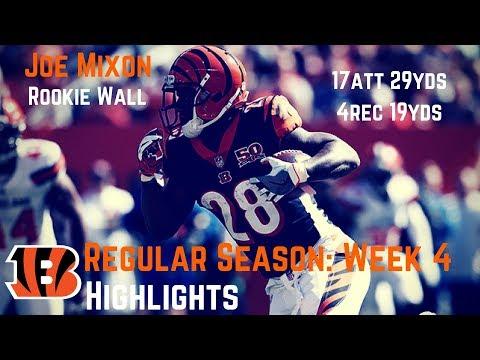 Joe Mixon Week 4 Regular Season Highlights Rookie Wall | 10/01/2017