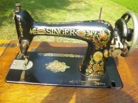 Antique 40 Singer Red Eye 40 Treadle Sewing Machine Sold Adorable Red Eye Singer Sewing Machine