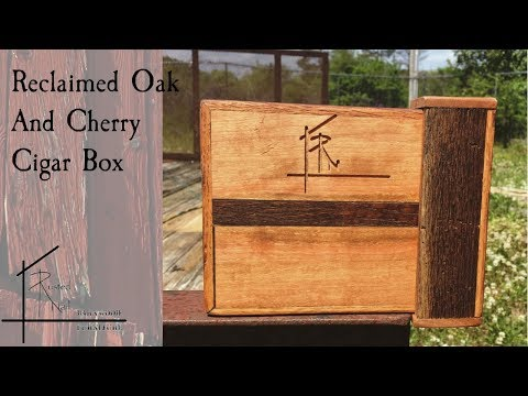 Reclaimed Oak and Cherry Cigar Box